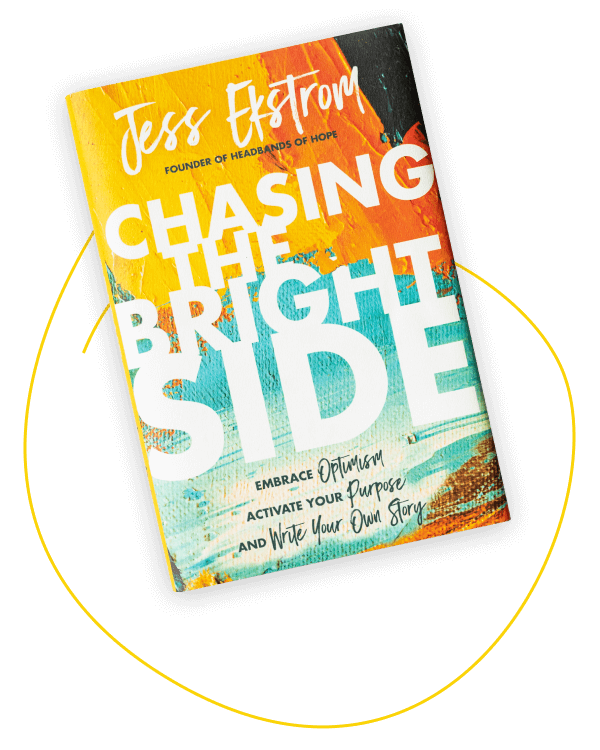 Jess' book, Chasing the Bright Side circled