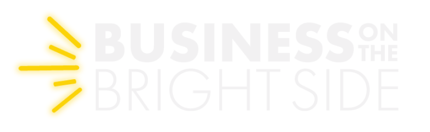 Business on the bright side logo white
